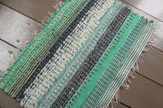 Experiment with textures. Woven on a traditional floor loom, with hand-cut I Shop, My Etsy Shop, Recycled Fabric, Textile Artists, Experiment, Loom, Weaving, Outdoor Blanket, Traditional