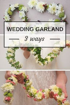 3 DIY Wedding Garlands. Which one is your favorite? >> http://www.hgtvgardens.com/weddings/make-your-own-wedding-garland?soc=pinterest