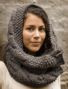 You'll love knitting a cowl scarf when it's bulky, can be knit up quickly and can be worn in multiple ways.  This Owl Cowl is made with large knitting needles and can be worn draped over the shoulders or around the head as a hood.  Make this cozy cowl for the colder seasons and keep yourself looking stylish and feeling warm