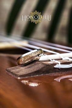 Hawaiian Wedding Ring Custom Hawaiian Wedding Band with Hawaiian Scroll design - Hawiian Wedding, Hawaiian Wedding Rings, Hawaiian Jewelry, Band Engagement Ring, Wedding Ring Bands, Heirloom Rings, Hawaiian Homes, Simple Wedding Centerpieces, Scroll Design