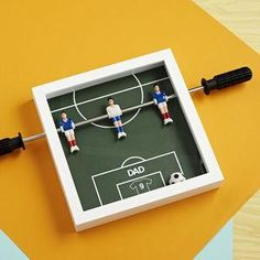 Personalised Table Football Art - This Father's Day, treat Dad to something he really wants — everlasting memories with you. invite Dad to the sporting event of the season — a night in with your favourite team, Britain's finest snacks and unique tipple or two.