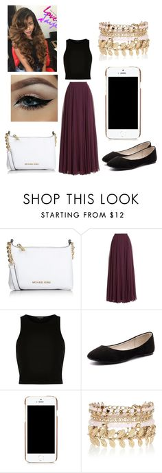 """""""I am in love with this thing"""" by najiyahbrown on Polyvore featuring Michael Kors, Halston Heritage, River Island, Verali, Moschino, women's clothing, women's fashion, women, female and woman"""