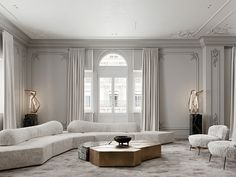 Enhance Your Senses With Luxury Home Decor Living Room Interior, Home Interior Design, Living Room Decor, Neoclassical Interior Design, Luxury Home Decor, Luxury Homes, Rooms Decoration, My New Room, House Rooms