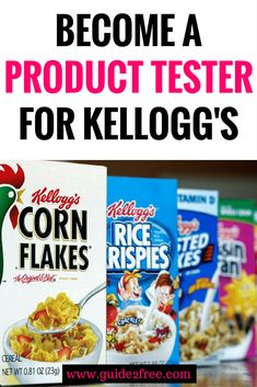 Join Kellogg's K-INSIDERS panel for a chance to get free samples and prizes from Kellogg's!  Be a product tester and help them test new products for free. via @guide2free