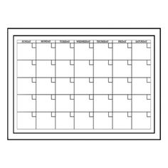 58523a13380 Wall Pops - Wall Pops Peel   Stick Dry Erase White Monthly Calendar - -  Home Depot Canada
