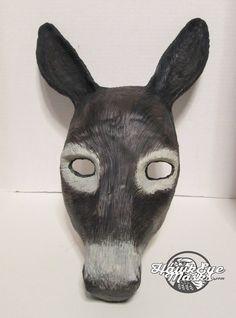 Donkey mask, realistic costume animal mask, made to order, handmade, hand painted, masquerade mask, Carnival mask by HawkEyeMasks on Etsy