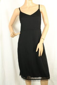 Venzia Lane Bryant Black Nightgown Sleepwear Lined Beaded Hem Size 14/16  #LaneBryant #Gowns #Glamour