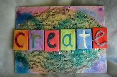 Show your creative spirit with this mixed media canvas project. Designed by @Jenny Rohrs