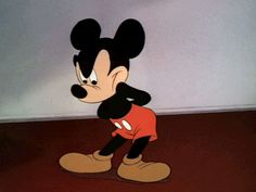 Trending GIF disney angry mickey mouse shorts impatient hurry up 1941 Classic Cartoon Characters, Classic Cartoons, Disney Characters, Mickey Mouse Cartoon, Mickey Mouse And Friends, Mickey Mouse Tumblr, Animiertes Gif, Animated Gif, Old Disney