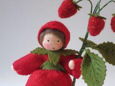 Wild Strawberry Nature Table Waldorf by KatjasFlowerfairys