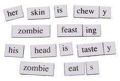 $11.99 ThinkGeek :: Zombie Magnetic Poetry Kit