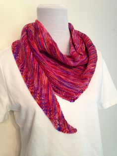 Knit Asymmetrical Shawlette by SavvyFrills on Etsy, $116.75