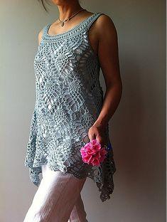 Ravelry: Jordan - sleeveless pineapple top pattern by Vicky Chan