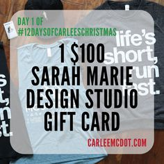 Day 1 of @carleemcdot Giveaway!