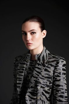 McQ Alexander McQueen tiger striped tweed. Best thing ever. Fall 2013 line.
