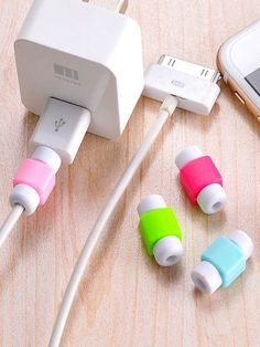 371e8eaa17 Random Color Charger Cable Protector 5pcsFor Women-romwe Organizations,  Storage Organization, Romwe,