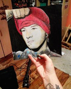 Joshua Dun Twenty One Pilots, TOP, singer, Josh Dun, fanart, pop, rock pop