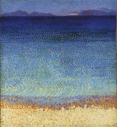 アンリ=エドモン・クロス「黄金の島」(1891~92年、油彩、カンバス、59×54センチ、オルセー美術館蔵)(C)RMN (Musee d'Orsay) / Herve Lewandowski / distributed by AMF