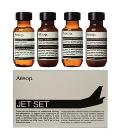 Jet Set Kit  Contains: Classic Shampoo 50mL  Classic Conditioner 50mL  Geranium Leaf Body Cleanser 50mL  Rind Concentrate Body Balm 50mL This ingredient list is subject to change, customers should refer to the product packaging for the most up-to-date ingredient list.