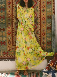 Long Sleeve Beach Floral Maxi Dress