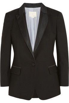 Band of Outsiders Wool-piqué tuxedo jacket | NET-A-PORTER