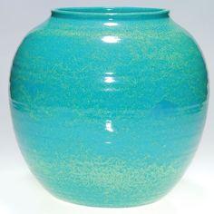 Cowan V-45 Turquoise Vase
