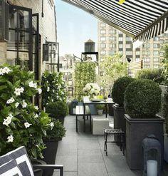 Balcony garden: ♡M o n i q u e. Outdoor Decor, Balcony Decor, Outside Living, Outdoor Rooms, House Exterior, Elle Decor, Outdoor Design