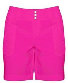 raspberry belted ladies golf short | #golf4her