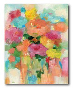 Splashy Flower II Gallery-Wrapped Canvas