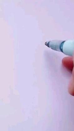 Art Drawings Beautiful, Art Drawings Sketches Simple, Pencil Art Drawings, Easy Drawings, Doodle Drawings, Cool Paper Crafts, Diy Arts And Crafts, Cute Doodle Art, Pen Art
