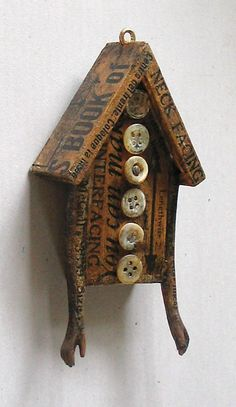 Doll House no 20 - Ornament - Original Mixed Media Assemblage (I own it! So GORGEOUS!)