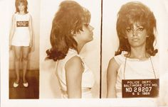 I don't know her crime and unfortunately, with 1968 fashions, I can't guess by the outfit. Selfies, Mob Wives, Vintage Magazine, Celebrity Gallery, Mug Shots, Big Hair, Our Lady, American Women, Vintage Photos