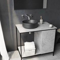Mode Orion charcoal grey coloured countertop basin 355mm Countertop Basin, Countertops, Wall Mounted Basins, Basin Taps, Bathroom Basin, Basin Mixer, Vanity Units, Glazed Ceramic, Charcoal