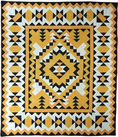 "Blackfoot Quilt, 1950, 85X98"" Maker unknown"