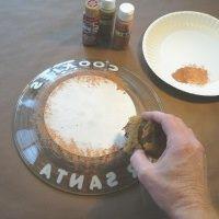 "hand painted santa cookie plates & milk jug | Santa loves milk and cookies - especially onhis special ""Santa Plate ..."