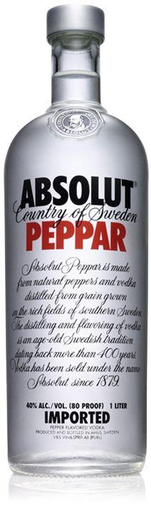 Absolut Peppar - Chile de Arbol, Jalapeño y Pimiento Verde | Chili Pepper, Jalapeño Pepper and Green Bell