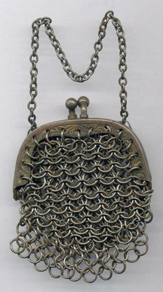 Chainmail purse.  A popular form of armor throughout history, chainmail as a material is tough and lightweight, affording similar protection to plate armor without sacrificing mobility or strength. In addition to armor, chainmail was also used throughout history to form decorative jewelry and functional housewares. Real chainmail is manufactured by linking thousands of tiny rings together.