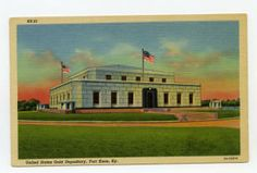 United States Gold Depository, Fort Knox, Ky. :: Ronald Morgan Postcard Collection