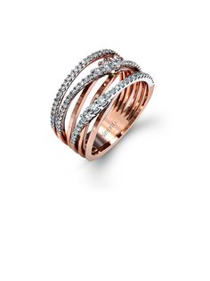 In love with this wedding band | @BridalPulse Wedding Ring Gallery | Simon G. Fabled Collection | Wedding Bands Rose Gold    $$$ (3,001 – 6,000)