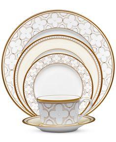Noritake Trefolio Gold Dinnerware Collection - Dinnerware - Dining & Entertaining - Macy's
