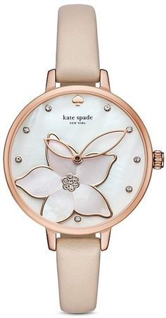 beautiful nude beige Kate Spade watch