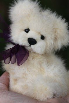 OOAK WHITE MINK FUR TEDDY BEAR ARTIST ORIGINAL KIMBEARLY'S ONE OF A KIND #AllOccasion