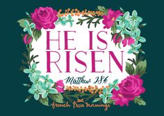 He Is Risen Lock Screen from French Press Mornings Bible Scriptures, Bible Quotes, Biblical Verses, Scripture Art, Wisdom Quotes, French Press Mornings, Morning Pages, Matthew 28, Religion