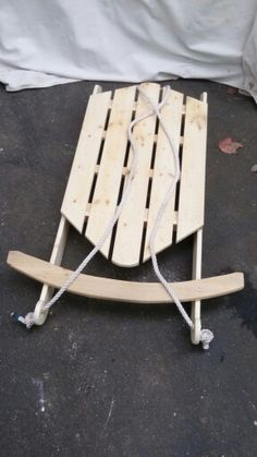 First sled I built. Looked at a few pictures and figured out how big to make it. Ready for some snow.