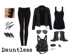 Dauntless - the brave. They are tattooed, pierced, and black clothed. I am dauntless. :D