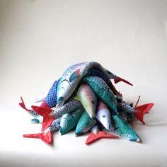 Lavender Fish Organic Flax and Lavender Eye by AliaGraceDolls