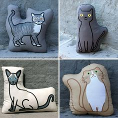Cat Pillows from Pillow Pillow Pillow. Haha Sharon I don't know why but I see you having one of these. (me too by the way)