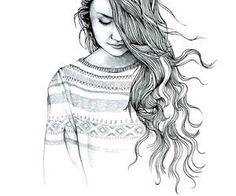 girl, drawing, and art εικόνα