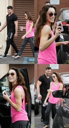 Maksim Chmerkovskiy & Meryl Davis leave the studio after dance practice in Los Angeles (March 21).