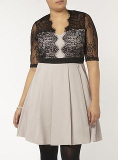 Plus Size Light Grey Lace Dress